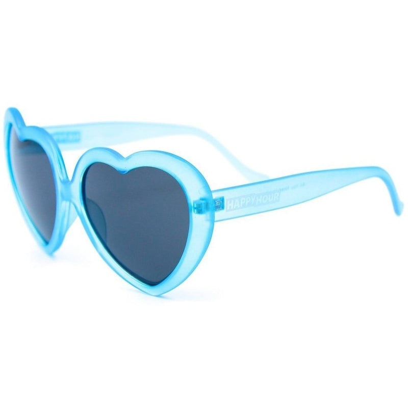 Happy Hour Heart Ons Shades - Blue Frost