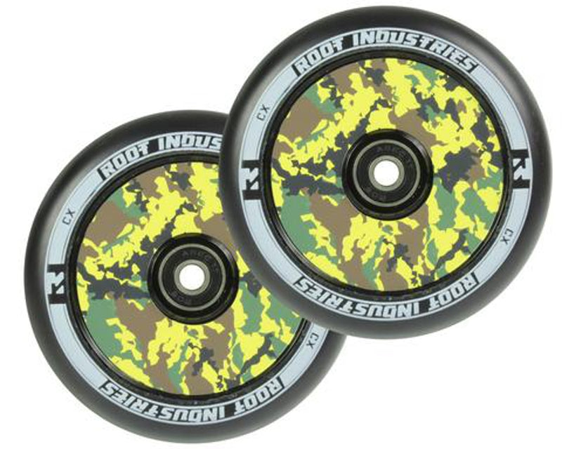 Root Industries Air Scooter Wheels - Black/Camo (Set of 2)