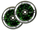 Root Industries Air Scooter Wheels - Black/Green Splatter