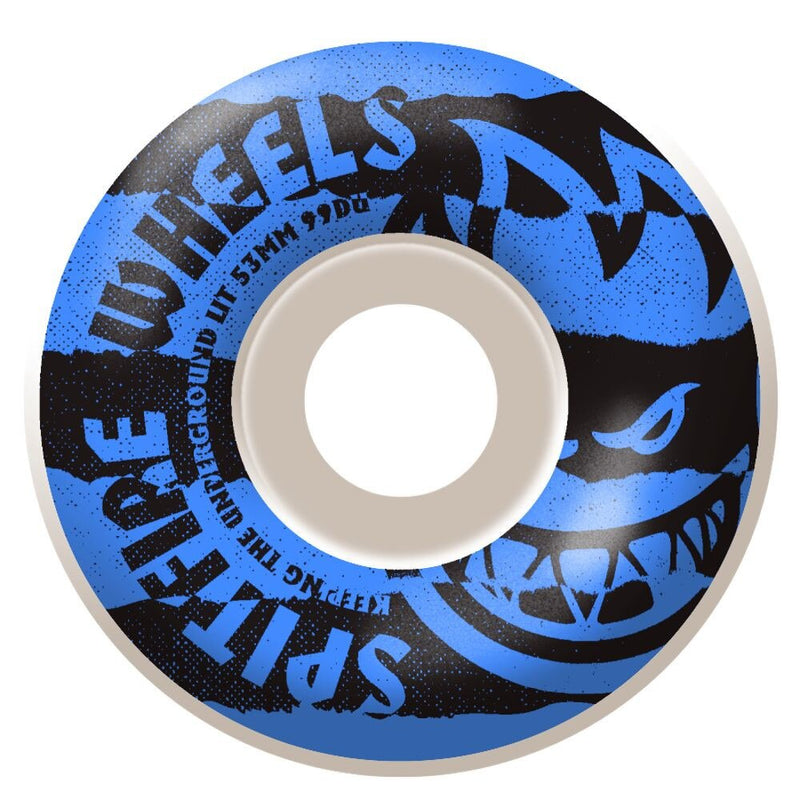 Spitfire Blue Shredded Classic 99D Skateboard Wheel