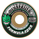 Spitfire Formula Four Conical White/Green 101D Skateboard Wheels