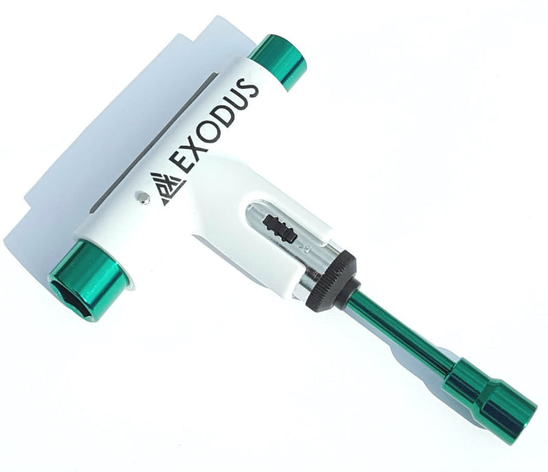 Silver X Exodus Ratchet Skateboard Tool - White/Green