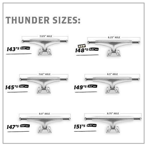 Thunder Polished Team Hollows Skateboard Trucks - HI