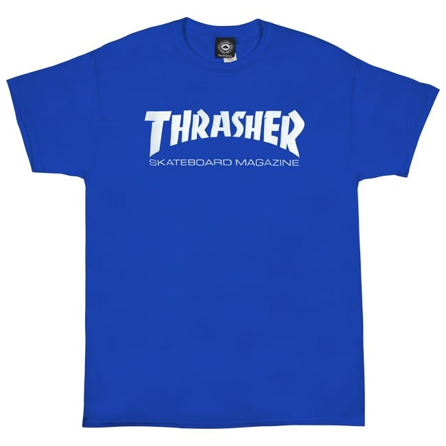Royal Blue Skate Mag Logo Thrasher Magazine T-Shirt