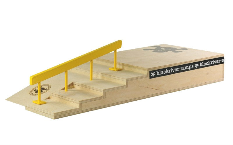 Blackriver Ramps Fingerboard Stair set w/ Square Rail