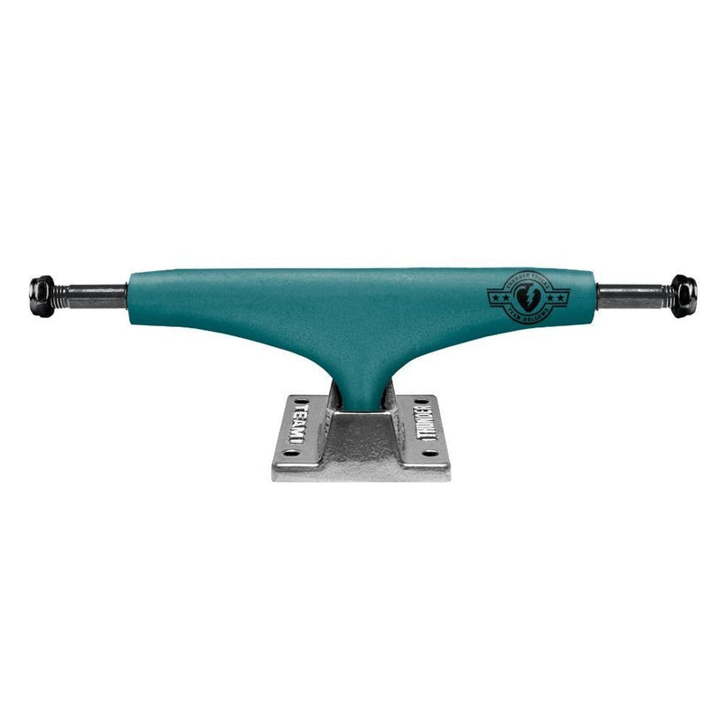Thunder Polished Matte Teal Team Hollows Skateboard Trucks - Hi 147