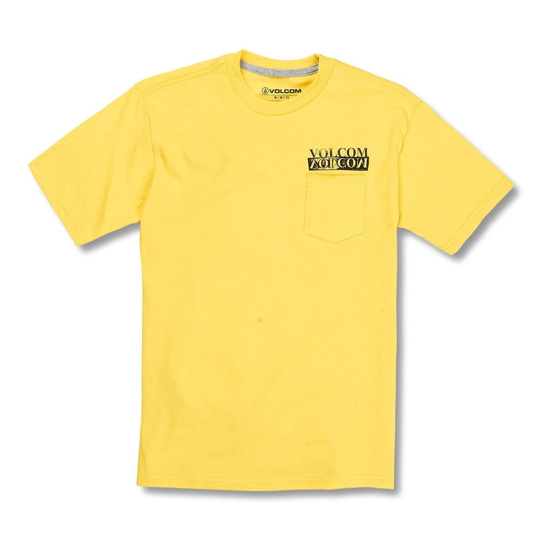 Volcom Youth Effect Pocket Tee - True Yellow