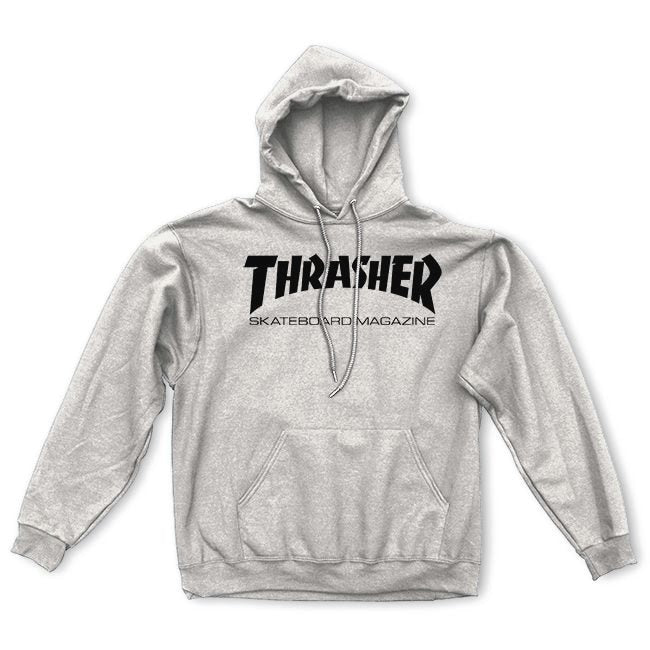Thrasher Skate Mag Logo Pullover Hoodie - Grey