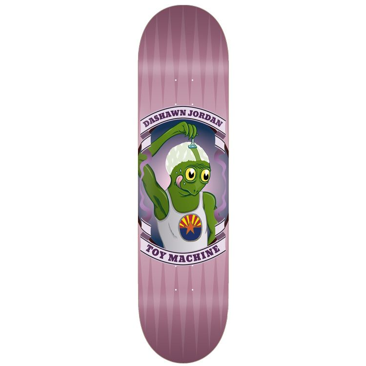 Purple Shaved Dashawn Jordan Toy Machine Skateboard Deck