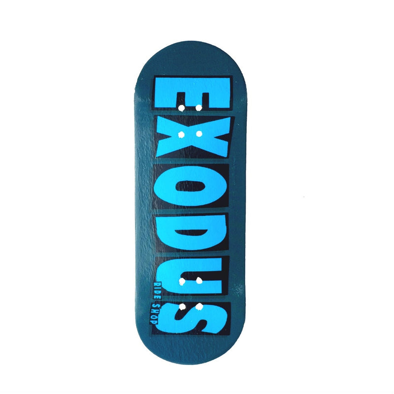 Exodus Brand Logo X-Wide 33mm Fingerboard Deck - Turquoise