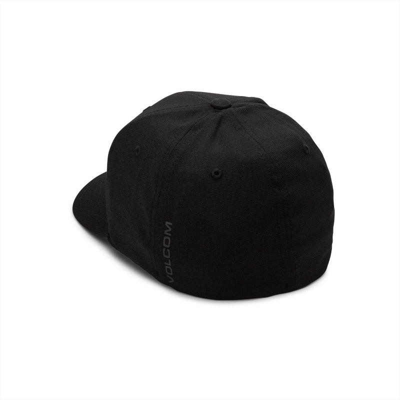 Black XFIT Fitted Volcom Stone Tech Hat Back