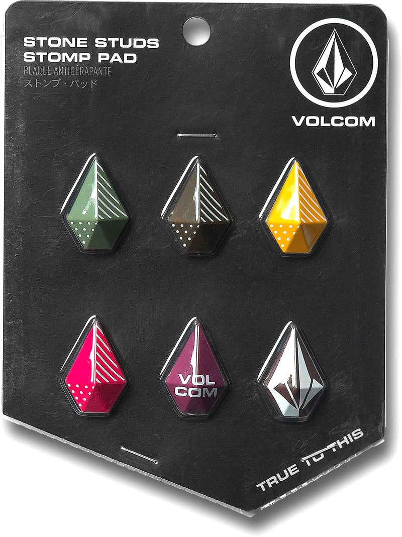 Multi Colored Stone Studs Volcom Stomp Pads