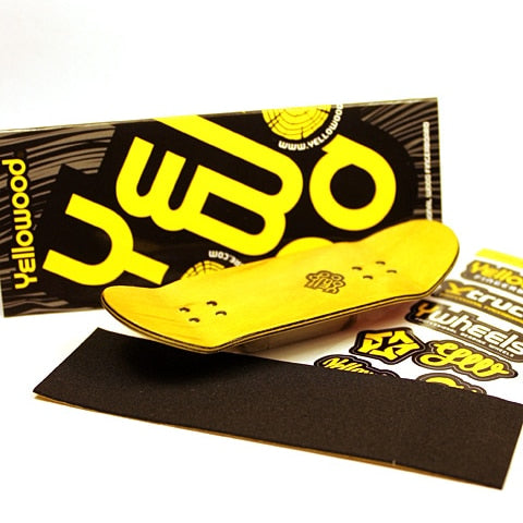Yellowood Chrome Logo Fingerboard Deck