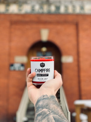 "Campfire ""Love"" Candle - Limited Edition + 2 Free Drink Cards"