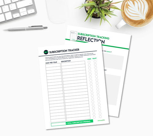 Subscription Tracking Worksheet