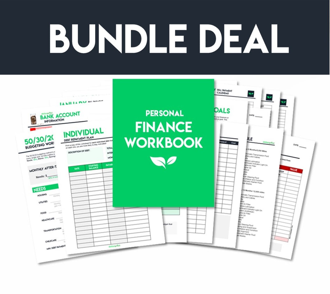 Ultimate Personal Finance Workbook [39 Pages]