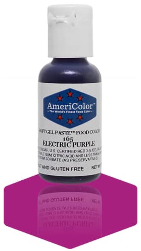 165-Electric Purple Americolor Softgel Food Color