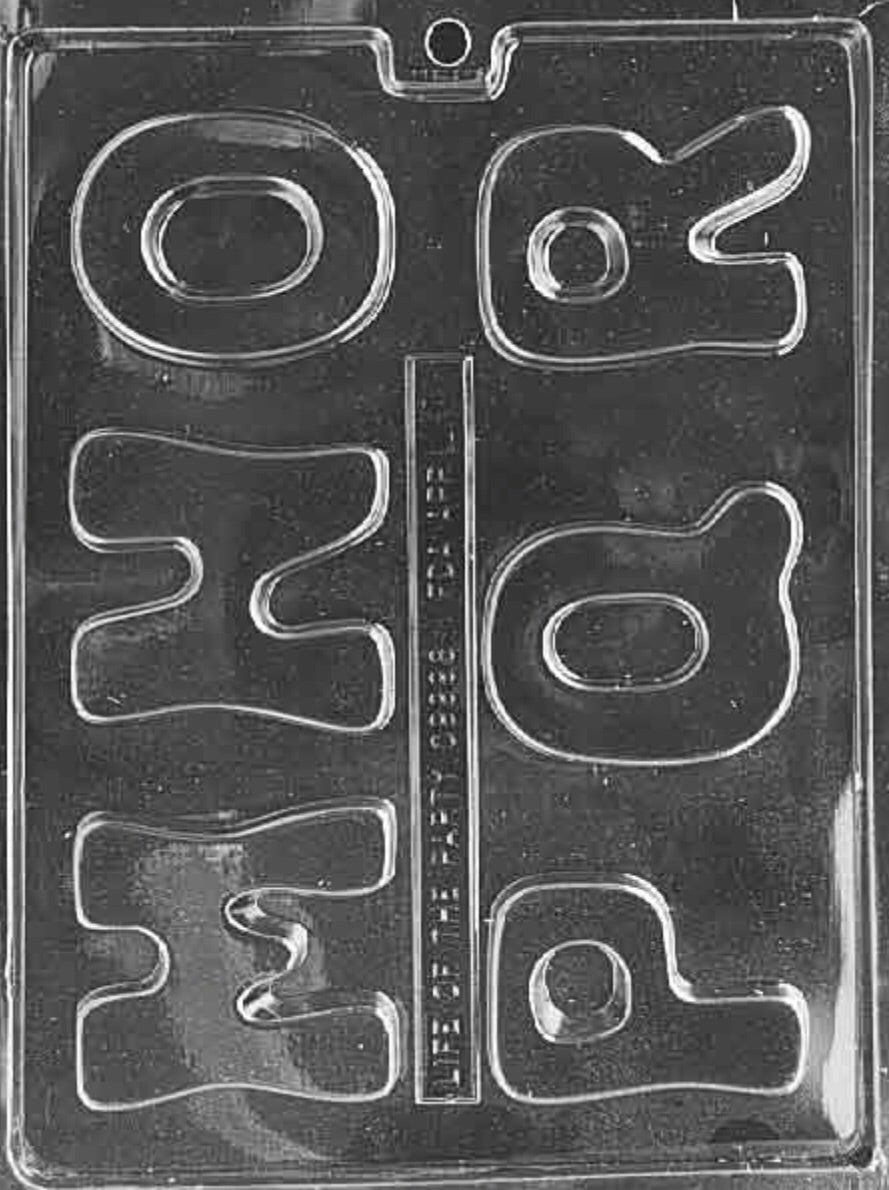 "Letters ""M-R"" Chocolate Mold"