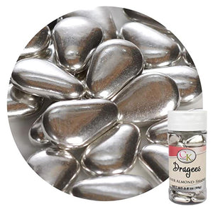 CK Products Silver Dragees Almond Shape 3.5oz
