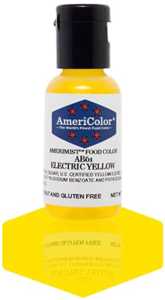 AB61-Electric Yellow Americolor Amerimist Food Color
