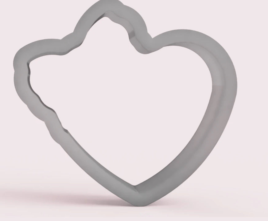Heart With Bow Cookie Cutter