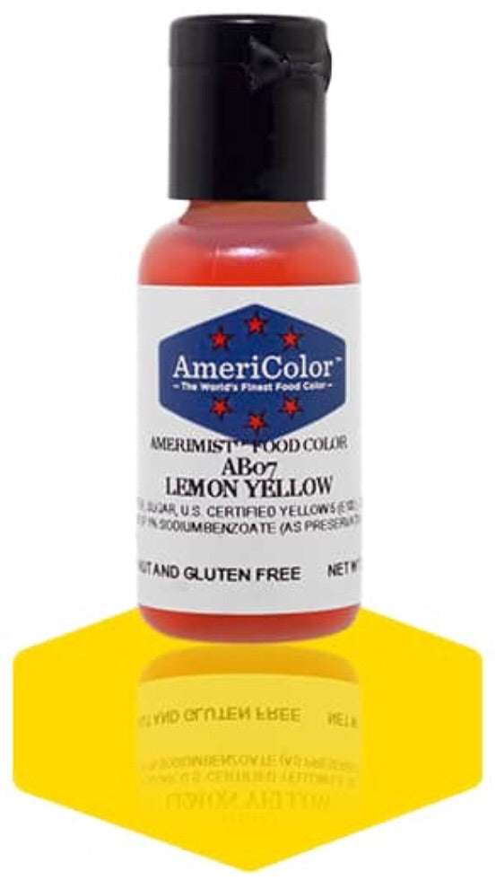 AB07-Lemon Yellow Americolor Amerimist Food Color