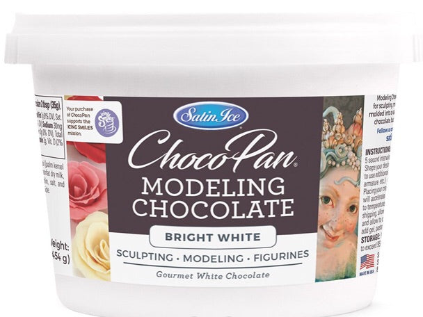 ChocoPan by Satin Ice Bright White Modeling Chocolate 1lb