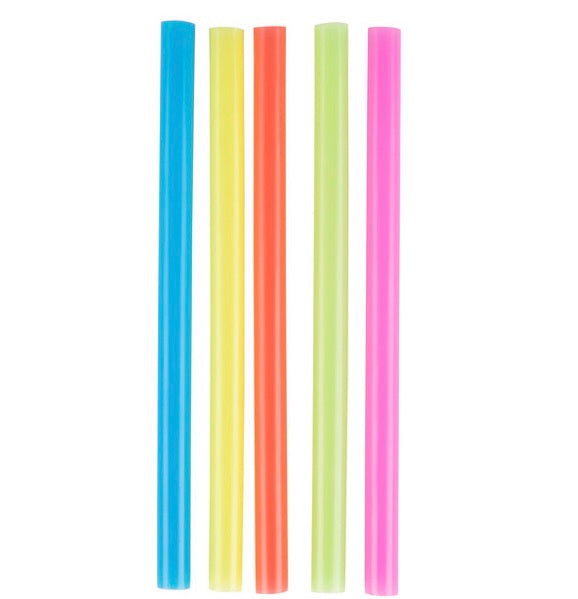 "Choice 8 1/2"" Colossal Neon Straw - 12 pack"
