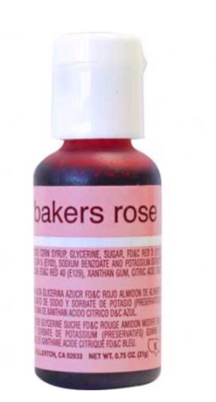 Bakers Rose Chefmaster Liqua-gel Food Color
