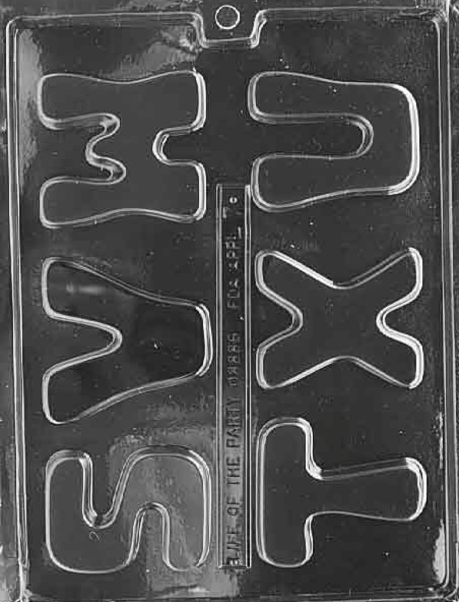 "Letters ""S-X"" Chocolate Mold"