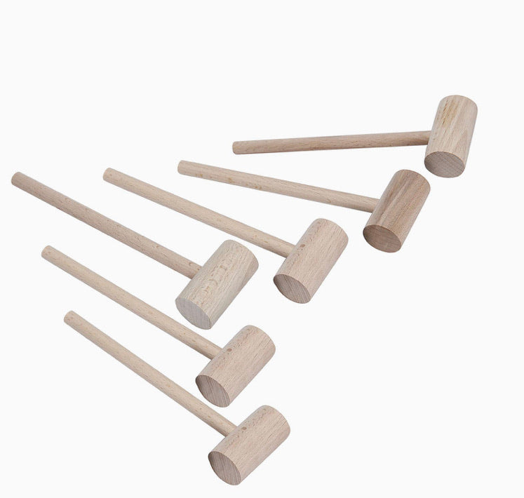 Small Wooden Mallets - 6 Pack