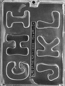 "Letters ""G-L"" Chocolate Mold"