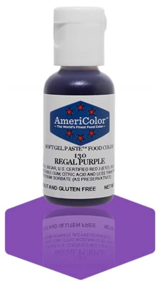 130-Regal Purple AmeriColor Softgel Paste Food Color