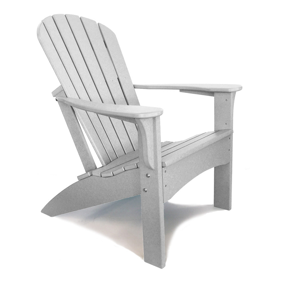 Awesome Woodlike Outdoor Premium Adirondack Chair Light Gray Gamerscity Chair Design For Home Gamerscityorg