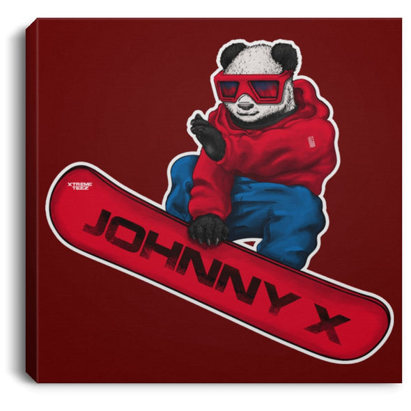 Johnny Xtreme (Snowboarding) 0.75 Inch Square Canvas - XtremeTeez