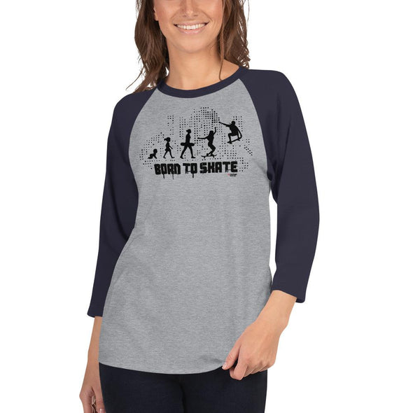 Skateboarding (Born to Skate) Women's 3/4 Sleeved T-Shirt