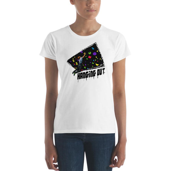 Rock Climbing (Hanging Out) Women's Slim-Fit T-Shirt
