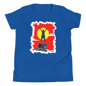 Rock Climbing (Top of the World) Kids T-Shirt - XtremeTeez