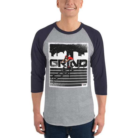BMX (Grind) Men's 3/4 Sleeved T-Shirt