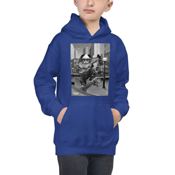 Johnny Xtreme (Skateboarding Retro) Children's Hoodie - XtremeTeez