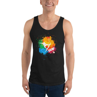 Surfing (Paint Splatter) Men's Tank