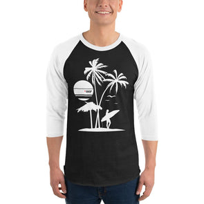 Surfing (Surf Life) Men's 3/4 Sleeved T-Shirt