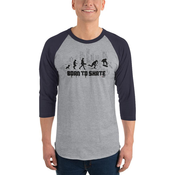 Skateboarding (Born to Skate) Men's 3/4 Sleeved T-Shirt