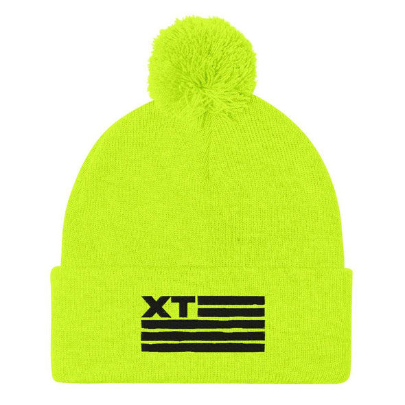Xtreme Teez (XT Flag) Embroidered Pom-Pom Beanie