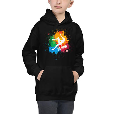 Rock Climbing (Paint Splatter) Children's Hoodie
