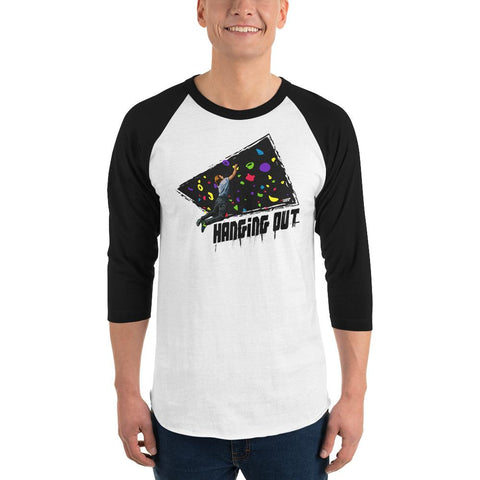 Rock Climbing (Hanging Out) Men's 3/4 Sleeved T-Shirt