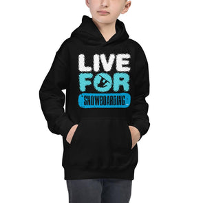 Snowboarding (Live for Snowboarding) Children's Hoodie