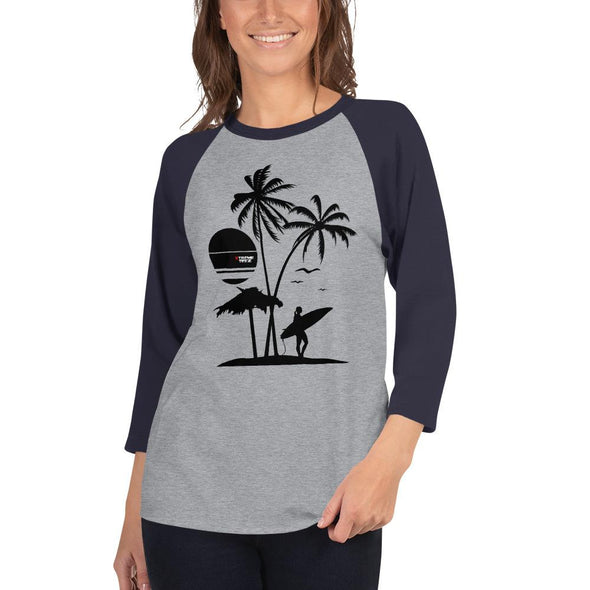 Surfing (Surf Life) Women's 3/4 Sleeved T-Shirt