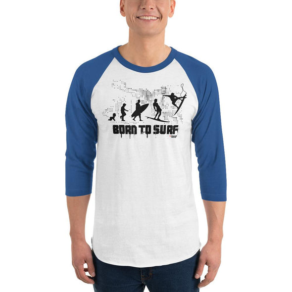 Surfing (Born to Surf) Men's 3/4 Sleeved T-Shirt
