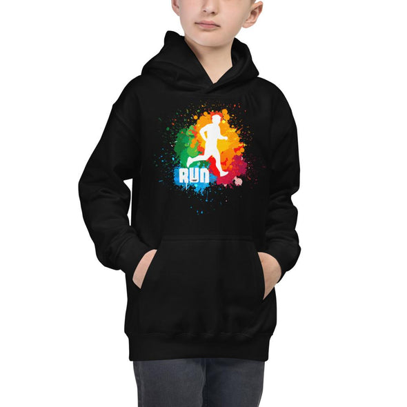 Running (Paint Splatter) Children's Hoodie